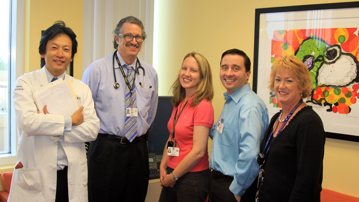Peter Sun, MD, Jacob Neufelder, MD, Jessica Martin, PT, James Policy, MD, Marcie Humphrey, RN